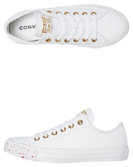 WHITE WOMENS FOOTWEAR CONVERSE SNEAKERS - 566728CWHT