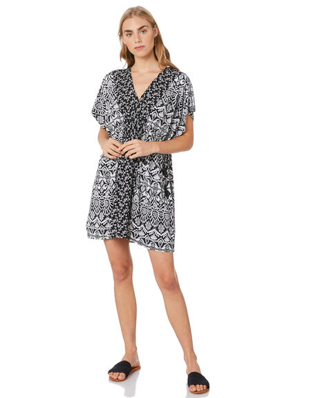 BLACK WOMENS CLOTHING TIGERLILY DRESSES - T305465BLK