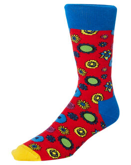 MULTI MENS CLOTHING HAPPY SOCKS SOCKS + UNDERWEAR - BEA01-4300MUL