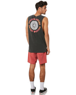 DUSTY RED MENS CLOTHING VOLCOM BOARDSHORTS - A25418G0DSR