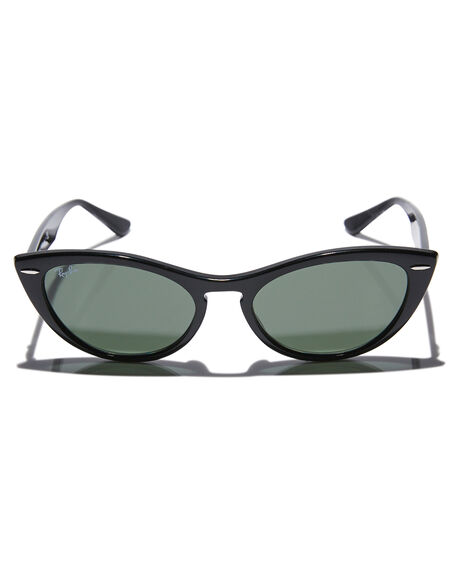 BLACK GREEN WOMENS ACCESSORIES RAY-BAN SUNGLASSES - 0RB4314NBLK