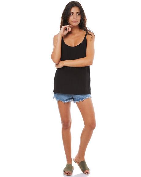 BLACK WOMENS CLOTHING ELWOOD FASHION TOPS - W74303BLK