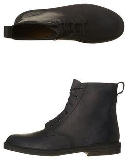 BLACK SMOOTH MENS FOOTWEAR CLARKS ORIGINALS BOOTS - SS26119-975M