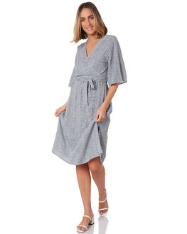 MAPLE NAVY WOMENS CLOTHING LILYA DRESSES - RVD2070-MP