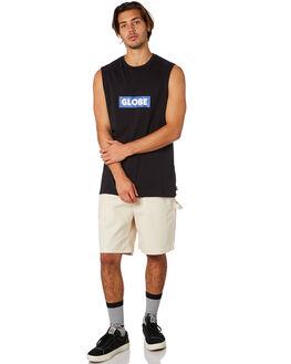 BLACK MENS CLOTHING GLOBE SINGLETS - GB01822004BLK