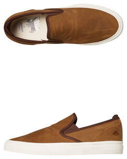 BROWN MENS FOOTWEAR EMERICA SLIP ONS - 6101000111200