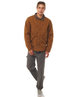 COPPER MENS CLOTHING BRIXTON JACKETS - 03177COPPR