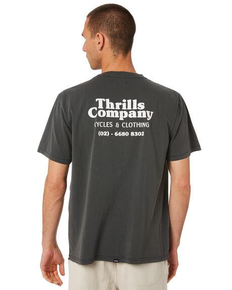 MERCH BLACK MENS CLOTHING THRILLS TEES - TR9-107BMMCBLK