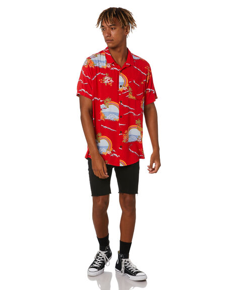 RED MENS CLOTHING ROLLAS SHIRTS - 16032160