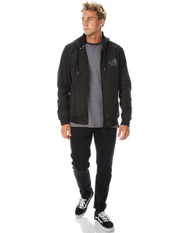 BLACK MENS CLOTHING SANTA CRUZ JACKETS - SC-MJA7480BLK