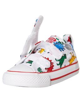 WHITE KIDS BOYS CONVERSE FOOTWEAR - 763713WHT