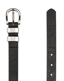 BLACK SILVER WOMENS ACCESSORIES RUSTY BELTS - BEL0395BK1