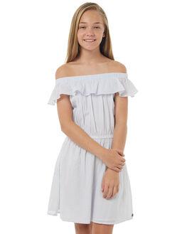 BLUE WHITE STRIPE KIDS GIRLS EVES SISTER DRESSES - 9900136STR