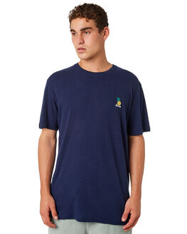NAVY BLUE MENS CLOTHING RUSTY TEES - TTM2248NVB