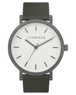 GUNMETAL WHITE OLIVE MENS ACCESSORIES THE HORSE WATCHES - ST0123A20