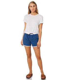 DARK BLUE WOMENS CLOTHING RIP CURL SHORTS - GBOEC13155