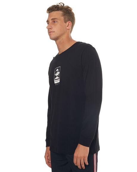 BLACK MENS CLOTHING RVCA TEES - R172091BLK