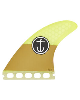 YELLOW BOARDSPORTS SURF CAPTAIN FIN CO. FINS - CFF2111500YEL