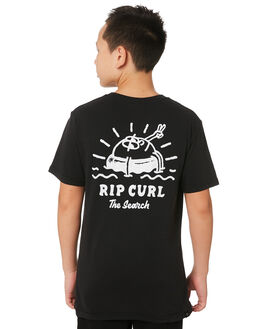 WASHED BLACK KIDS BOYS RIP CURL TOPS - KTEWV38264