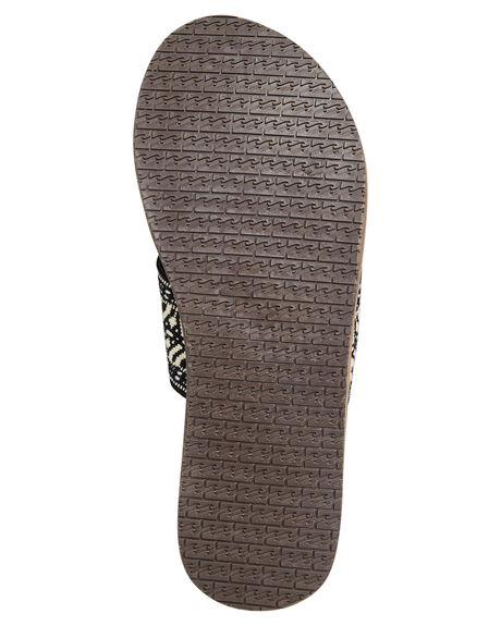 BLACK WHITE WOMENS FOOTWEAR BILLABONG SLIDES - 6695807BLKW