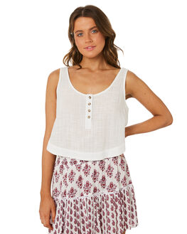 WHITE WOMENS CLOTHING RIP CURL FASHION TOPS - GSHZN31000