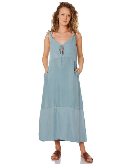 SKY BLUE WOMENS CLOTHING SANCIA DRESSES - 843ASKY