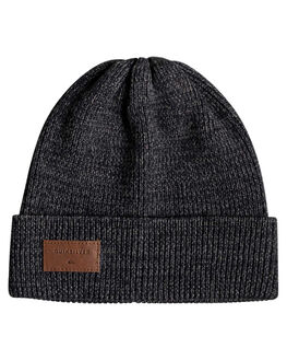 DARK GREY HEATHER MENS ACCESSORIES QUIKSILVER HEADWEAR - EQYHA03183-KRPH