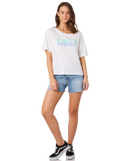 WHITE WOMENS CLOTHING HURLEY TEES - BV1839-100
