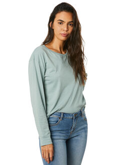 BLUE GREY WOMENS CLOTHING RIP CURL TEES - GTEID90131