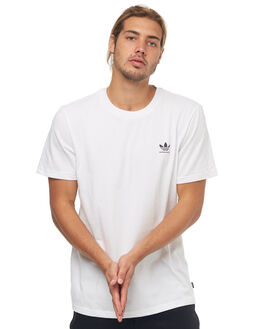WHITE MENS CLOTHING ADIDAS TEES - CW2345WHT