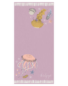PINK BASE KIDS GIRLS THE BEACH PEOPLE TOWELS - TB-T55-06-PPNKB