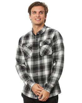 BLACK CHECK MENS CLOTHING THRILLS SHIRTS - TA8-222BZBCHK
