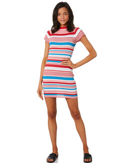 MULTI WOMENS CLOTHING LULU AND ROSE DRESSES - LU23708MULTI