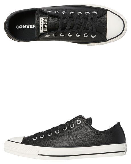 83740e7b41a7 Converse Womens Chuck Taylor All Star Leather Shoe - Black Egret ...