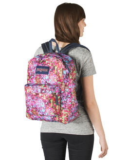MULTI FLOWER WOMENS ACCESSORIES JANSPORT BAGS + BACKPACKS - JST501-JS0UE