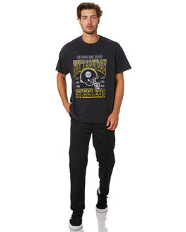 PIRATES BLACK MENS CLOTHING MAJESTIC TEES - MPS7025DBBLK