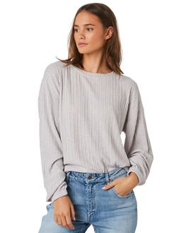 LIGHT GREY MARLE WOMENS CLOTHING RUSTY JUMPERS - MWL0220LGM