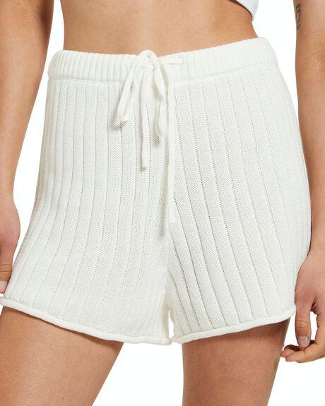WHITE WOMENS CLOTHING SUBTITLED SHORTS - 41475800022