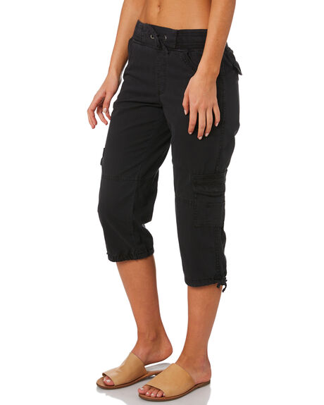 WASHED BLACK WOMENS CLOTHING SWELL PANTS - S8201198BKWSH