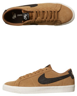 GOLDEN BEIGE BLACK MENS FOOTWEAR NIKE SKATE SHOES - SS864347-201M