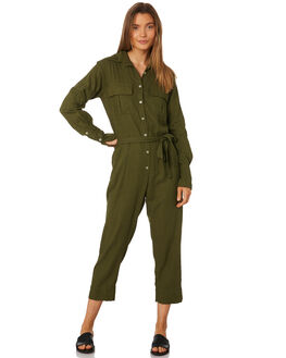 MUSTANG GREEN WOMENS CLOTHING RUE STIIC PLAYSUITS + OVERALLS - SA19-38-MG
