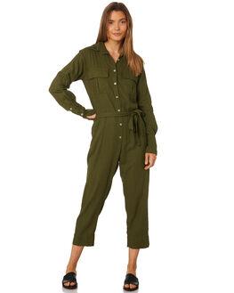 MUSTANG GREEN WOMENS CLOTHING RUE STIIC PLAYSUITS + OVERALLS - SA19-38-MG