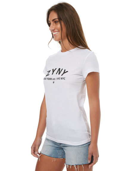 WHITE WOMENS CLOTHING ZOO YORK TEES - ZY-WTD7289WHT