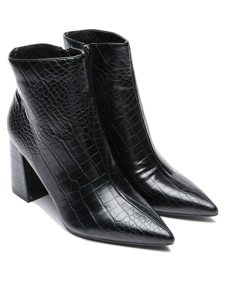 BLACK CROC WOMENS FOOTWEAR THERAPY BOOTS - 10534BCROC