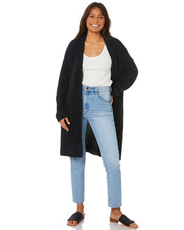 BLACK WOMENS CLOTHING ALL ABOUT EVE KNITS + CARDIGANS - 6434010BLK