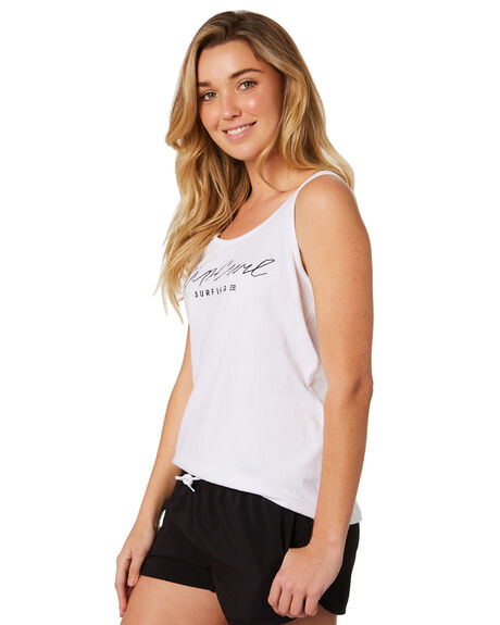 WHITE WOMENS CLOTHING RIP CURL SINGLETS - GTEVN11000