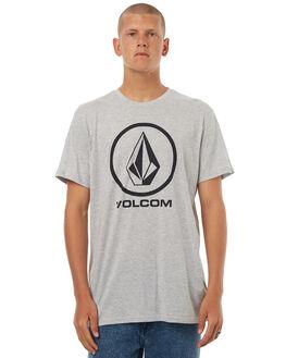 GREY MARLE MENS CLOTHING VOLCOM TEES - A57117G1GRM