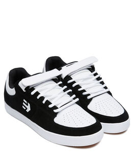 BLACK WHITE MENS FOOTWEAR ETNIES SNEAKERS - 4102000139976