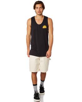 BLACK MENS CLOTHING GLOBE SINGLETS - GB01822001BLK