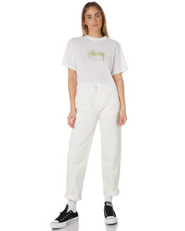 WHITE WOMENS CLOTHING STUSSY TEES - ST191011WHI